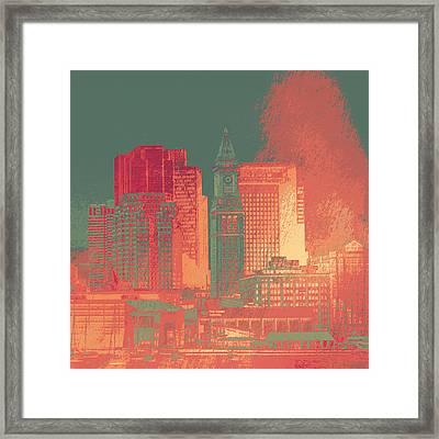 Boston Clock Tower V1 Framed Print