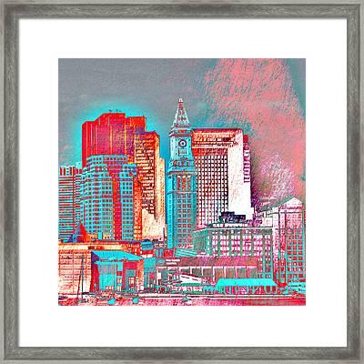 Boston Clock Tower V2 Framed Print