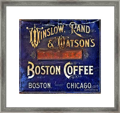 Boston Coffee Framed Print