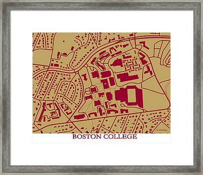 Boston College Campus Framed Print by Spencer Hall