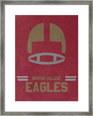 Boston College Eagles Vintage Football Art Framed Print by Joe Hamilton