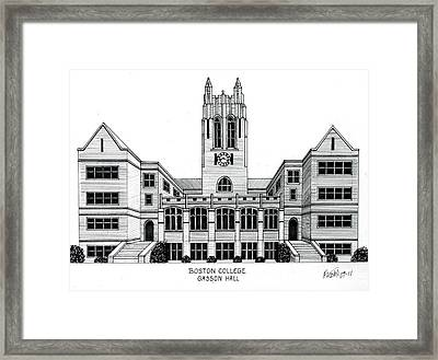 Boston College Framed Print by Frederic Kohli