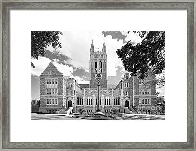 Boston College Gasson Hall Framed Print