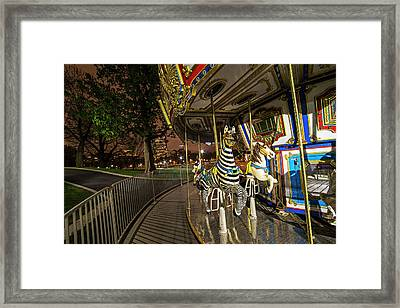 Boston Common Carousel Boston Ma Framed Print by Toby McGuire