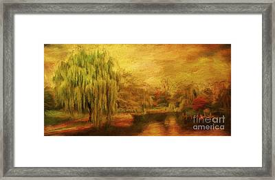 Boston Common In Autumn Framed Print