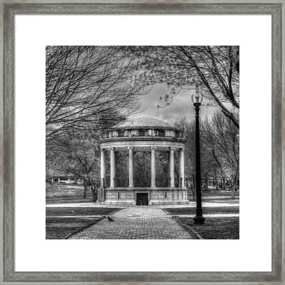Boston Common Rotunda - Black And White Square Framed Print