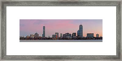 Boston Dawn Framed Print