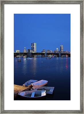 Boston Dinghies Framed Print by Juergen Roth