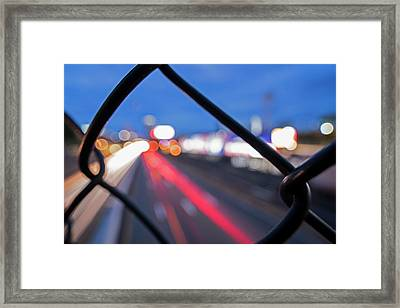 Boston Fence Abstract Mass Pike Framed Print by Toby McGuire