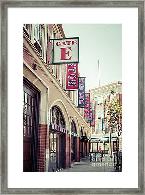Boston Fenway Park Sign Gate E Entrance Framed Print by Paul Velgos