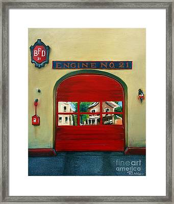 Boston Fire Engine 21 Framed Print by Paul Walsh