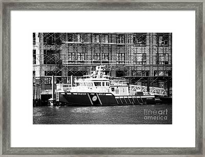 Boston Fire Rescue Fireboat John S Damrell Usa Framed Print