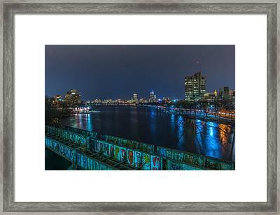 Boston From The Boston University Bridge Framed Print