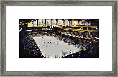 Boston Garden Ice Framed Print by T Kolendera
