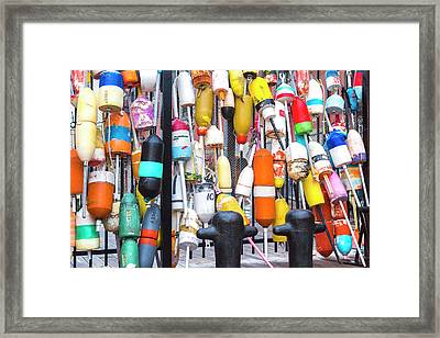 Boston Harbor Buoys Framed Print