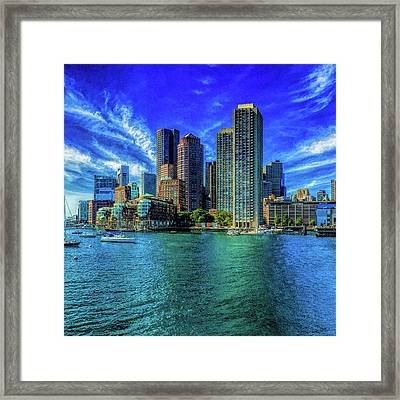 Boston Harbor Reflected Framed Print