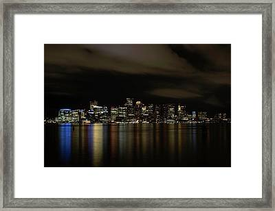 Boston Harbor Skyline Framed Print