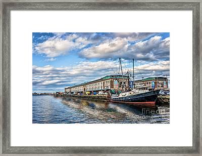 Boston Harbor Framed Print by Tamyra Ayles