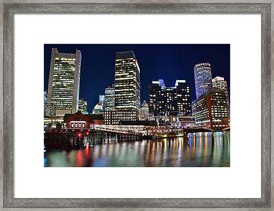 Boston Harbor Tea Party Framed Print by Frozen in Time Fine Art Photography