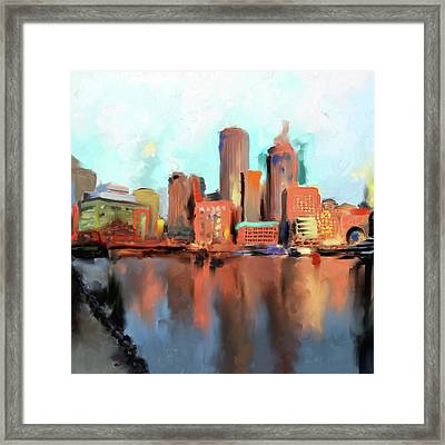 Boston II 480 I Framed Print by Mawra Tahreem
