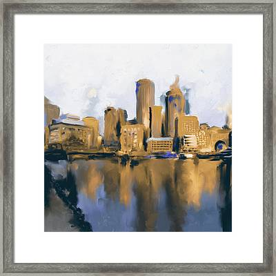 Boston II 480 II Framed Print by Mawra Tahreem