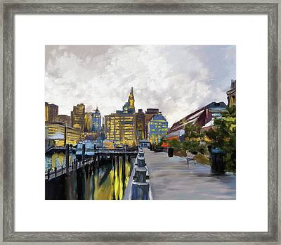 Boston IIi 483 I Framed Print by Mawra Tahreem