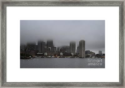 Boston In The Fog Framed Print