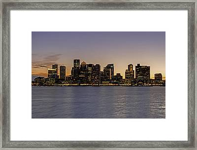 Framed Print featuring the photograph Boston Last Night Sunset by Juergen Roth