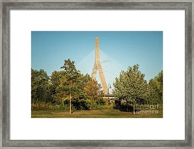 Boston Leonard Zakim Bunker Hill Bridge Photo Framed Print
