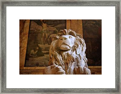 Boston Library Guardian Framed Print by JAMART Photography