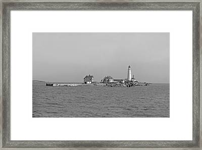 Boston Light 1906 Framed Print