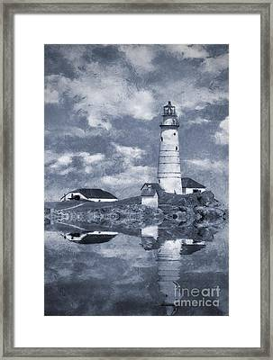 Framed Print featuring the photograph Boston Light  by Ian Mitchell
