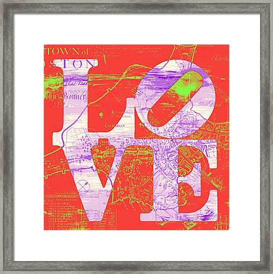 Boston Love V4 Framed Print by Brandi Fitzgerald