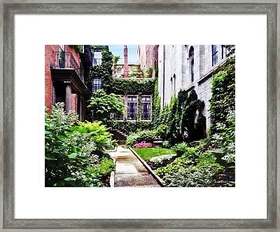 Boston Ma - Hidden Garden Framed Print by Susan Savad