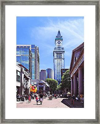Boston Ma - Quincy Market Framed Print by Susan Savad