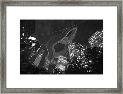 Boston Ma Rose Kennedy Greenway Black And White Framed Print