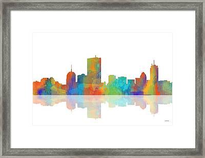 Boston Ma. Skyline Framed Print