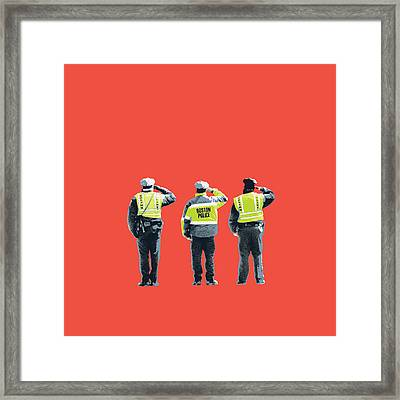 Boston Marathon Bombing Framed Print by Shay Culligan