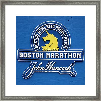 Framed Print featuring the photograph Boston Marathon - Boston Athletic Association by Joann Vitali