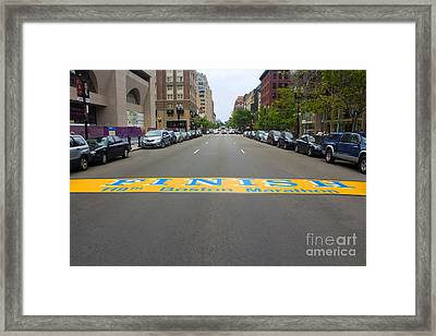 Boston Marathon Finish Line Framed Print