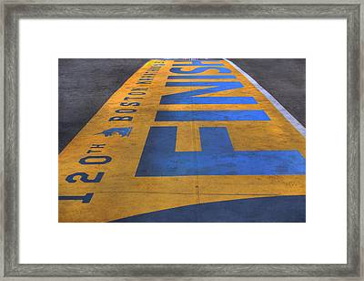 Boston Marathon Finish Line Framed Print by Joann Vitali