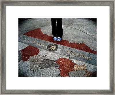 Boston Marathon Framed Print by Sheryl Burns