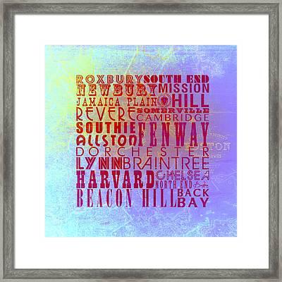 Boston Mass V1 Framed Print