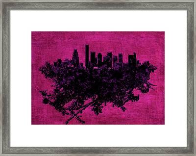 Boston Massachusetts Cityscape 1d Framed Print