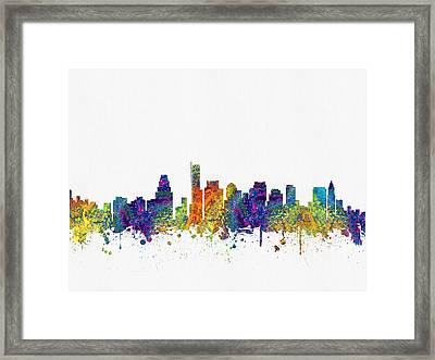 Boston Massachusetts Skyline Color03 Framed Print