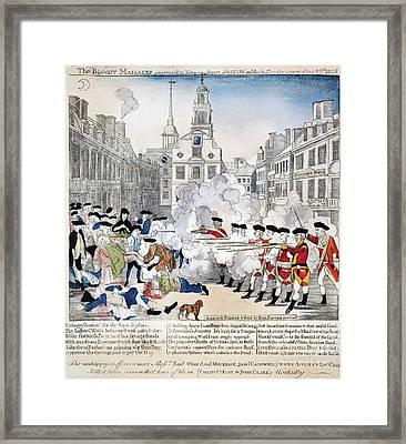 Boston Massacre, 1770 Framed Print by Granger