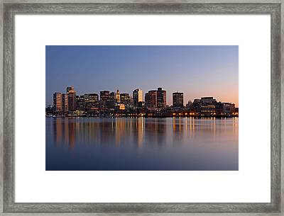 Boston Night Framed Print by Juergen Roth