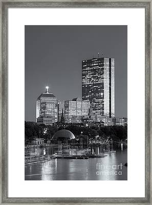 Boston Night Skyline Viii Framed Print by Clarence Holmes