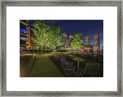 Framed Print featuring the photograph Boston Nightlife by Juergen Roth