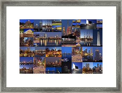 Boston Nights Of Light Framed Print by Juergen Roth